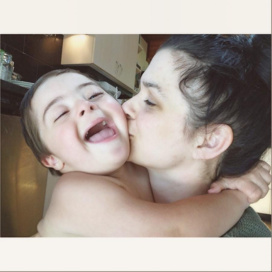 Amos and mama, summer 2014.